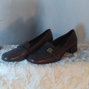 ANNE KLEIN iFLEX Women's Brown LEATHER Shoes 7